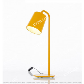 Kmodern Wrought Iron Table Lamp Yellow Citilux