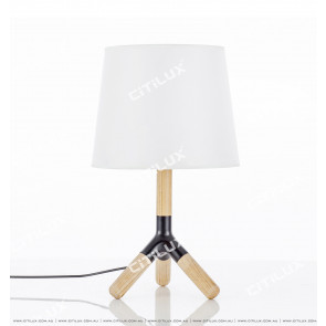 Simple Log Three-Leg Table Lamp Citilux