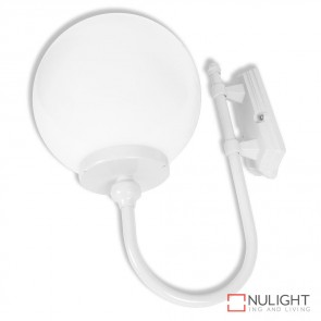 Gt 602 Lisbon 30Cm Sphere Wall Light White Finish E27 DOM