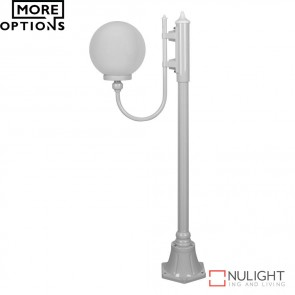 Gt 606 Lisbon 25Cm Sphere Curved Arm Short Post Light E27 DOM