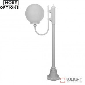 Gt 607 Lisbon 30Cm Sphere Curved Arm Short Post Light E27 DOM