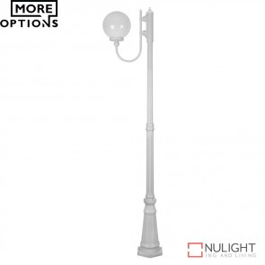 Gt 618 Lisbon 25Cm Sphere Curved Arm Tall Post Light E27 DOM