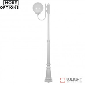 Gt 619 Lisbon 30Cm Sphere Curved Arm Tall Post Light E27 DOM