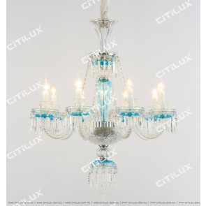Scattered Blue Crystal Chandelier Citilux