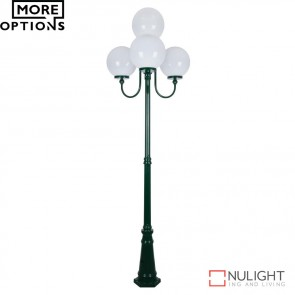 Gt 627 Lisbon Four 30Cm Spheres Curved Arms Tall Post Light E27 DOM