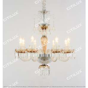 European Orange Baccarat Chandelier Citilux
