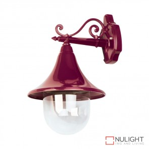 Gt 654 Monaco Hanging Wall Light Burgundy Finish E27 DOM