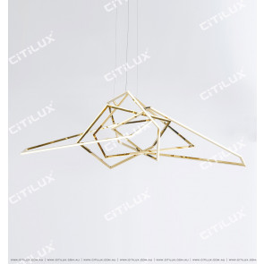 Minimal Geometric Line Stainless Steel Chandelier Citilux