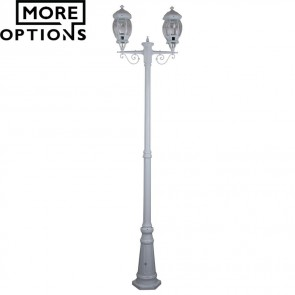 Gt 680 Vienna Twin Head Tall Post Light B22 DOM