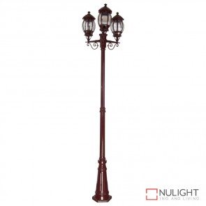 Gt 682 Vienna Triple Head Tall Post Burgundy Finish B22 DOM