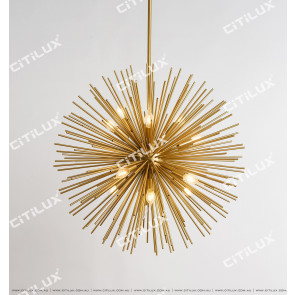 American Metal Fireworks Ball Chandelier Citilux