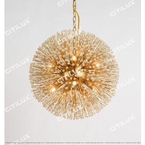 American Dandelion Spherical Crystal Pendant Lamp Citilux