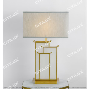 Chinese Architectural Marble Table Lamp Citilux