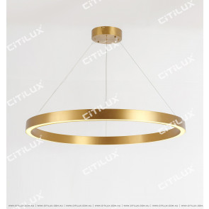 Stainless Steel Brushed Titanium Ring Chandelier Large Citilux