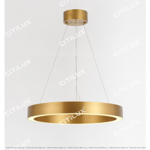 Stainless Steel Brushed Titanium Ring Chandelier Medium Citilux