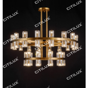 Ring K9 Crystal Up And Down Double Head Chandelier Large Citilux