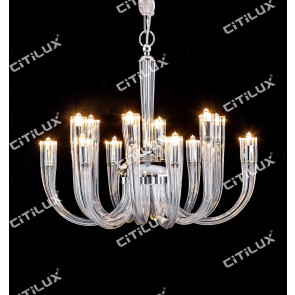 Modern Jane European Leaded Crystal Glass Chandelier Small Citilux