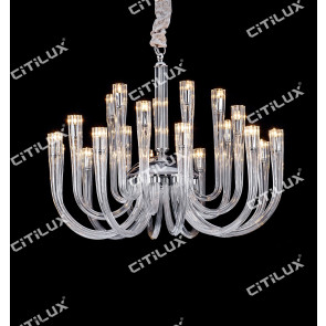 Modern Jane European Leaded Crystal Glass Chandelier Medium Citilux