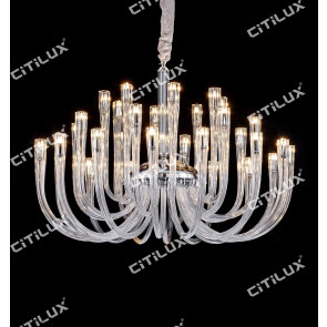 Modern Jane European Leaded Crystal Glass Chandelier Large Citilux