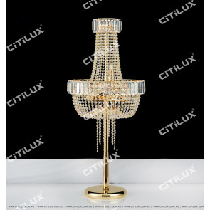 Simple European Crystal Table Lamp Citilux