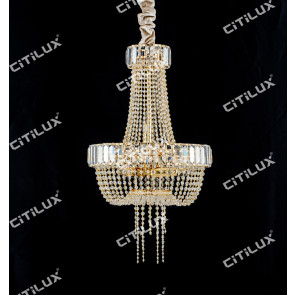 Simple European Crystal Chandelier Small Citilux