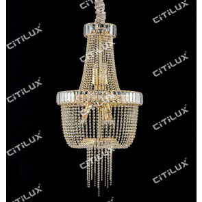 Simple European Crystal Chandelier Medium Citilux