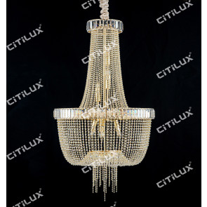 Simple European Crystal Chandelier Large Citilux