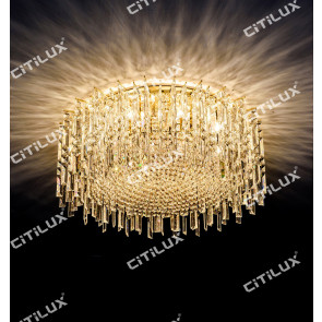 Golden Crystal Ceiling Light Citilux