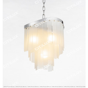Modern Beautiful Frosted Glass Chandelier Small Citilux