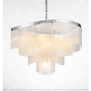 Modern Beautiful Frosted Glass Chandelier Large Citilux