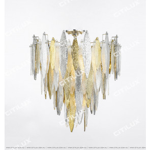 Modern Handmade Glass Gold And Silver Two-Color Ceiling Lamp Small Citilux
