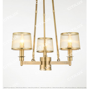 All-Copper American Mesh Single-Tier Chandelier Small Citilux