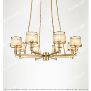 Full Copper American Mesh Single Tier Chandelier Large Citilux
