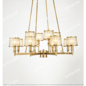 Full Copper American Mesh Double Chandelier Citilux