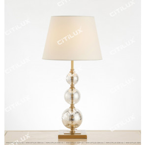 American Copper Retro Glass Table Lamp Citilux