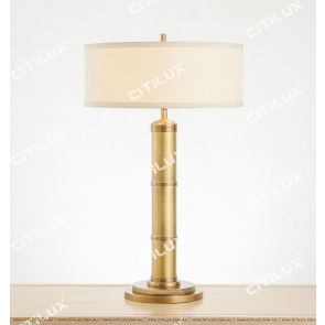 Classic American Copper Cylindrical Table Lamp Citilux