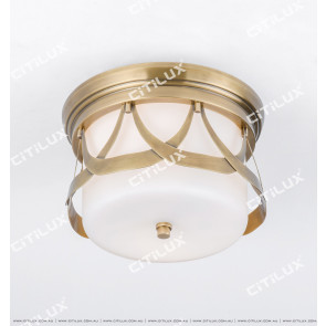 American Copper Aisle Ceiling Lamp Citilux