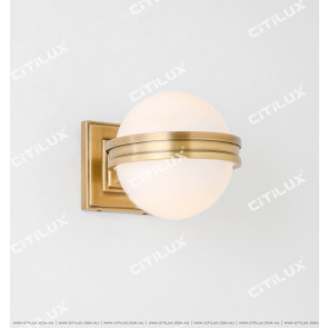 Copper American Single Head Glass Wall Lamp Citilux