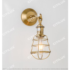 American Industrial Wind Copper Single Head Wall Lamp Citilux