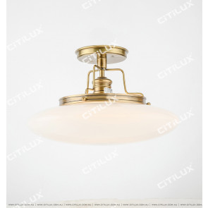 American Copper Single Head Restaurant Casual Chandelier Small Citilux