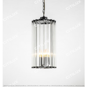 Simple American Black Copper Glass Single Head Chandelier Citilux