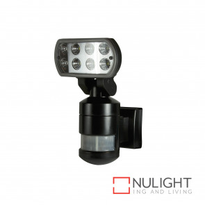 Nightwatcher 8W Led Motion Tracking Sensor Light - Black BRI