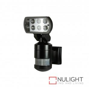 Nightwatcher 8W Led Motion Tracking Sensor Light - Black BRI