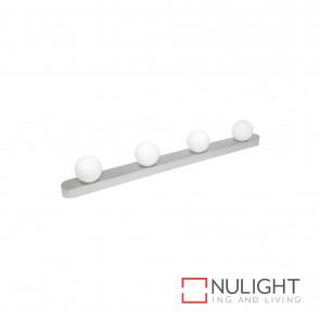 Rita 4Lt Hollywood Style Bulb Vanity Light-Brushed Aluminium BRI