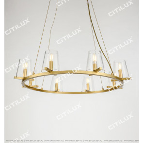 Simple American Copper Glass Chandelier Citilux