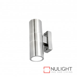 Denver-Ii Up And Down Wall Light Inc 4W Led Globes-304 Stainless Steel BRI