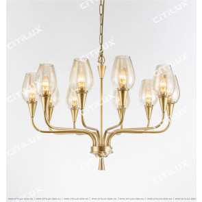 Tulip American Copper Chandelier Small Citilux