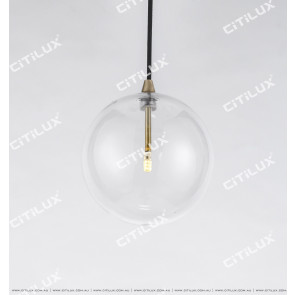 Full Copper Simple Glass Bulb Chandelier Citilux