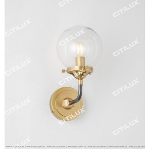 Simple Copper Molecular Structure Modern Wall Lamp Citilux