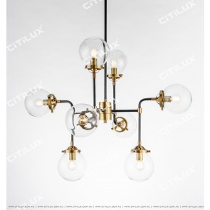 Simple Copper Molecular Structure Modern Chandelier Small Citilux